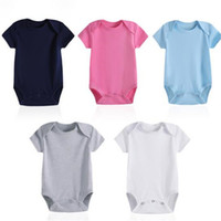 Wholesale 4PCS Newborn Girl Boy Baby Clothes High Quality Cute Cotton Short Sleeve Baby Rompers Baby Crawling Suits