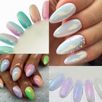Wholesale White Glitter Tips - Wholesale-Purple White Pink Blue DIY Mermaid Effect Glitter Nail Art Powder Dust Magic Glimmer Nail Art Decoration Tips