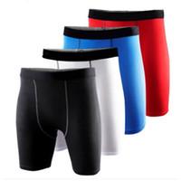 Wholesale Wholesale Black Basketball Shorts - Wholesale-2016 Mens Compression Gear Base Layer Sport Gym Shorts Basketball Running Training Shorts Tights Trousers