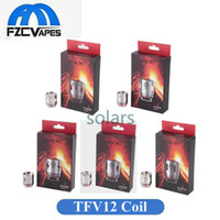 Wholesale T8 Atomizer Coil - Original SMOK TFV12 Coil Head Replacement V12 T12 T8 T6 X4 Q4 Atomizer Heads Cloud Beast King Vape Cores 100% Authentic
