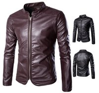 Wholesale 2017 New high end self cultivation motorcycle Men s Outerwear Coats jacket Korean trend Men s Leather Faux Leather Y666