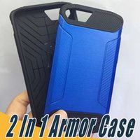 Wholesale Fashion Brands Drawings - 2 In 1 Hybrid Armor Case Wire Drawing Brush Cases Shockproof Fashion Cover For Sumsung J1 ACE J2 J3 J5 J7 Prime 2016 2017