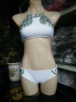 Wholesale High Quality Bikinis - New Deisgn Beaded Rhinestones Sexy Beach Bikini Suits for Women 2017 Sexy Beach Lady Swimsuits High quality Two Pieces Swimwear