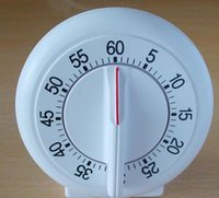 mini temporizador blanco al por mayor-Colores blancos Mini Round Shape Mechanical Timer temporizadores de cocina Cooking Laboratory temporizador temporizadores de cuenta regresiva Alarm Clock 1 - 60 Minutos