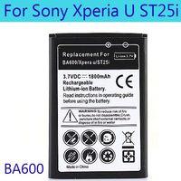 Wholesale Ericsson Xperia U - BA600 Battery For Sony Ericsson Xperia U ST25i Replacement 1800mAh Bateria Free Shipping High Quality