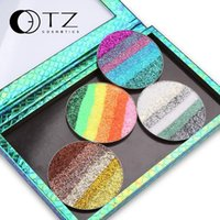 Wholesale Six Plus - Foreign trade hot TZ Rainbow flash film eye shadow stage makeup super cool cool six-color puzzle plus eye shadow European and American makeu