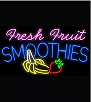 Residential orange smoothies - Fresh Fruit Smoothies Logo Neon Signs Beer Bar Pub Neon Light Sign Handicrafted Real Glass Tube19x15