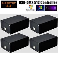 Wholesale led sd card controller - 4pcs lot New Quman HD512 USB-DMX512 Dongle Controller PC SD Card Mode Led Stage Lighting Martin Light Jockey Pearl Diamond WIN10