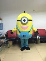 Wholesale Mascot Costume Minions - Hot selling one eye Minions Mascot Costume free shipping