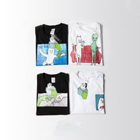 Wholesale Super Lord - Ripndip Lord Nermal Pocket Tee Men Women T Shirt 2016 Top Version Hip Hop Short Sleeve O Neck Cotton Fashion Super Couple Tops