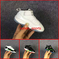 Wholesale Dmx 27 - Retro 11 Space Jam Basketball Shoes Baby Boys Girls Shoes Baby Shoes Blue Moon Sunset Small Size EUR 22-27