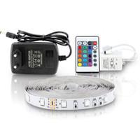 ingrosso luce stringa striscia-5m 300 led luce di striscia led RGB non impermeabile 3528 dc12v 60 led / m flessibile nastro di stringa nastro di illuminazione lampada decorazione della casa lampada