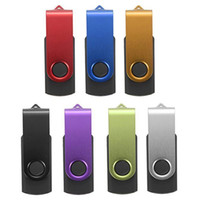 Wholesale Memory Pen Drives - Flash Memory 8GB Swivel USB 2.0 Metal Stick Pen Drive Storage Thumb U Disk