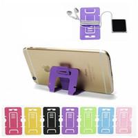 iyi telefon sahipleri toptan satış-Kaliteli Plastik Taşınabilir Katlanabilir Kart Telefon Mounts Telefon Masa PC Için Cep Telefonu Tablet Standı Tutucu 500 adet