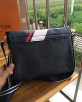 Wholesale Office Bags For Women - New Genuine Leather Bags Crossbody Messenger Bag Leather Office Bags for Men Document Briefcase Travel Bags