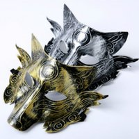 Wholesale Scary Wolf Head Masks Masquerade Costume Halloween Party Masks Creepy Animal Mask For Adult Cosplay Prop