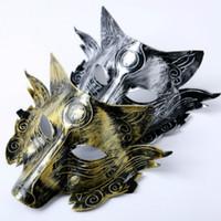 tier wolf maske großhandel-Scary Wolf Kopf Masken Maskerade Kostüm Halloween Party Masken Gruselige Tiermaske Für Erwachsene Cosplay Prop