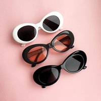 Wholesale Cheap Sunglasses For Women - 2018 New UV400 Vintage Unisex Clout Goggles Fashion Oval Cheap Kurt Cobain Sunglasses for Men and Women Designer Sun Glasses