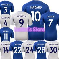Wholesale Chelsea Soccer Name Number - 17 18 TOP Quality Chelsea Soccer Jersey Customized Name Number 9 Morata 10 Hazard 4 Fàbregas 7 KANTE WILLIAN DAVID LUIZ Football Shirts
