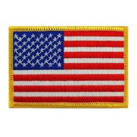 Wholesale Fabric Wholesalers Usa - American Flag Patches Military Uniform Gold Border USA Can Ironing Applique Jeans Fabric Sticker Patches for Hat Decoration