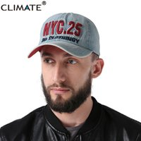 Vente en gros CLIMATE 2017 Denim 3D NY New York Sports Actif Casquettes Casual Casquettes Running One Size Adjustable Jeans Wear Hat For Men Women