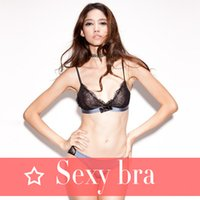 Wholesale Bikini 38d - Lingerie shop French sexy bikini lashes without a steel triangle cup bra suit Temperament and interest The temptation to girl trend ultra-th