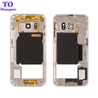 Wholesale metal frame galaxy s6 for sale – best 50PCS l Metal Middle Bezel Frame Cover For Samsung Galaxy S6 Edge G925F G925A Single Card Housing with Camera Glass Side Button