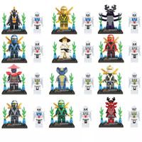 Wholesale Ninjago Action Figures - 24pcs lot Ninja Ninjago Minifigures Action Figures Building Blocks Bricks Model LELE 78011 legoeddis toys