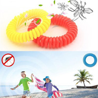 Wholesale Mosquito Repellent Bracelets Anti - Mosquito Repellent Bracelet Stretchable Elastic Coil Spiral hand Wrist Band telephone Ring Chain Anti-mosquito bracelet DHL IB395