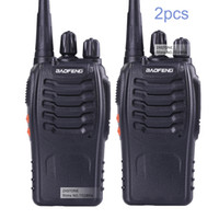 Wholesale radios communicators - Wholesale- 2 PCS Baofeng BF-888S Walkie Talkie 5W Handheld Two Way Radio bf 888s UHF 400-470MHz Frequency Portable CB Radio Communicator