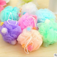 Wholesale Cleaning Accessories Home - Free Shipping Bath Shower Body Bubble Exfoliate Puff Sponge Mesh Net Ball Mesh Bath Sponge Accessories Hot Sale Home Supplies