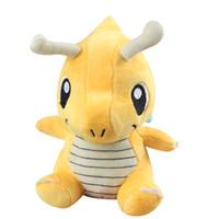 "Wholesale Pokemon Dragonite Toy - Hot Sale 3pcs Lot 6"" 16cm Dragonite Poke Pocket Monsters Plush Doll Stuffed Toy Pikachu Animals For Baby Gifts 065"