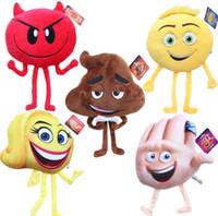 ingrosso personaggio del fumetto peluche-20-25 cm Emoji Movie giocattoli peluche Emoji Cartoon Character giocattoli peluche Emoji Peluche ripiene bambole Felice Peluche KKA1862