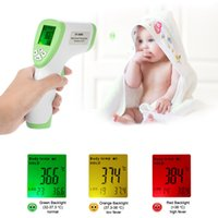 Wholesale Handheld Lasers - Digital Baby Laser Infrared Thermometer LCD Non-contact IR Infrared Thermometer Body Surface Temperature Measurement Gun Device Handheld