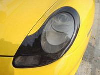 Wholesale black headlight cover - FOR 2 holes 986 911 BOXSTER 996 HEADLIGHTS COVERS EYELIDS TRIMS CARBON FIBER