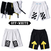 Wholesale Skinny Sweat Shorts Men - Off White Shorts Men Summer Style Pants Off White Abloh Virgil Tracksuit Fitness Skinny Joggers Sweat Off White Shorts