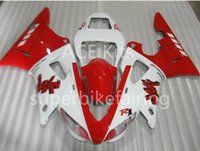 3Gifts New Hot vente vélo Carénages Kits Pour YAMAHA YZF-R1 1998 1999 R1 98 99 YZF1000 Cool Blanc Rouge SX10