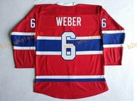 Wholesale Dry Laces - 2017 Cheap Cord NHL Montreal Canadiens #6 SHEA WEBER Lace Red Hockey Jerse Stitched Mix Order