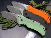 Wholesale Fish Handling - ZT Zero Tolerance 0350 ZT0350 9CR18MOV G10 handle flipper Folding xmas gift knife 1pcs