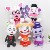 Wholesale Circus Wholesale - Wholesale New 25cm Five Nights At Freddy's Toy Sister Location Funtime Freddy Foxy Ballora Ennard Circus Baby FNAF Plush Toys Dolls