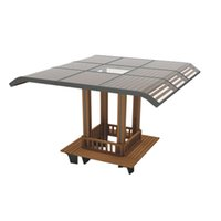Wholesale Summer hot shelter with solar energy power booth for your garden