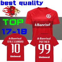 Wholesale N Shirts - 2017 2018 soccer jerseys RED HOME 17 18 top quality football shirts N. LOPEZ D.ALESSANDRO POTTKER CLUB Internacional S-XL