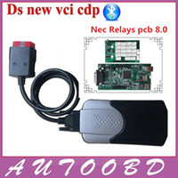 Wholesale Tcs Bluetooth - Wholesale- 2015 R3 with Keygen CDP nec relays green board V8.0 New Vci VD TCS CDP with Bluetooth for obd obd2 obdii diagnostic scanner tool