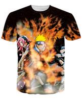 ingrosso abbigliamento anime maschile-2017 Anime Naruto T Shirt Uomo Harajuku Tee Shirts Homme Uomini Hipster 3D Divertente T Shirt Top Camiseta Crossfit Abbigliamento Maschile Tees