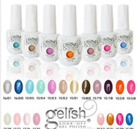 Wholesale Matte Gel Polish - 2017 Top quality Harmony Gelish nail polish 440 Colors 15ml Gel Polish UV Color Gel Soak Off base Gel top it off matte foundation Fedex
