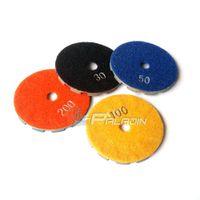 """Wholesale Grinding Disks - 4"""" Hook & Loop Diamond Concrete Floor Grinding Disc Metal Lapping Disk"""