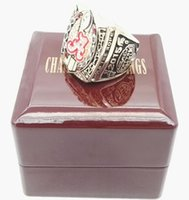 Wholesale Alabama Rings - wholesale rings Wholesale 2015 Alabama Crimson Tide National Custom Sports Championship Ring With Wooden Boxes championship rings