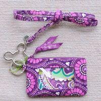 Wholesale Credit Card Holder Lanyard - VB mickey Card bag ID Holders + M Lanyard