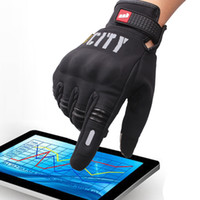 Wholesale City Motorcycles - Wholesale- MAD-BIKER CITY Motorcycle Gloves Bike Bicycle Full Finger glove Knight Gloves Drop Resistance Touch Screen Gloves Guantes Luvas