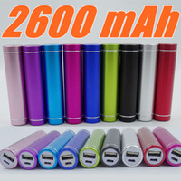 Wholesale Power Bank Charger Lipstick Portable - Fashionable aluminum Lipstick 2600 mAh Power Bank Portable Backup External Battery USB Mobile charger Mobile Power Supply A-YD